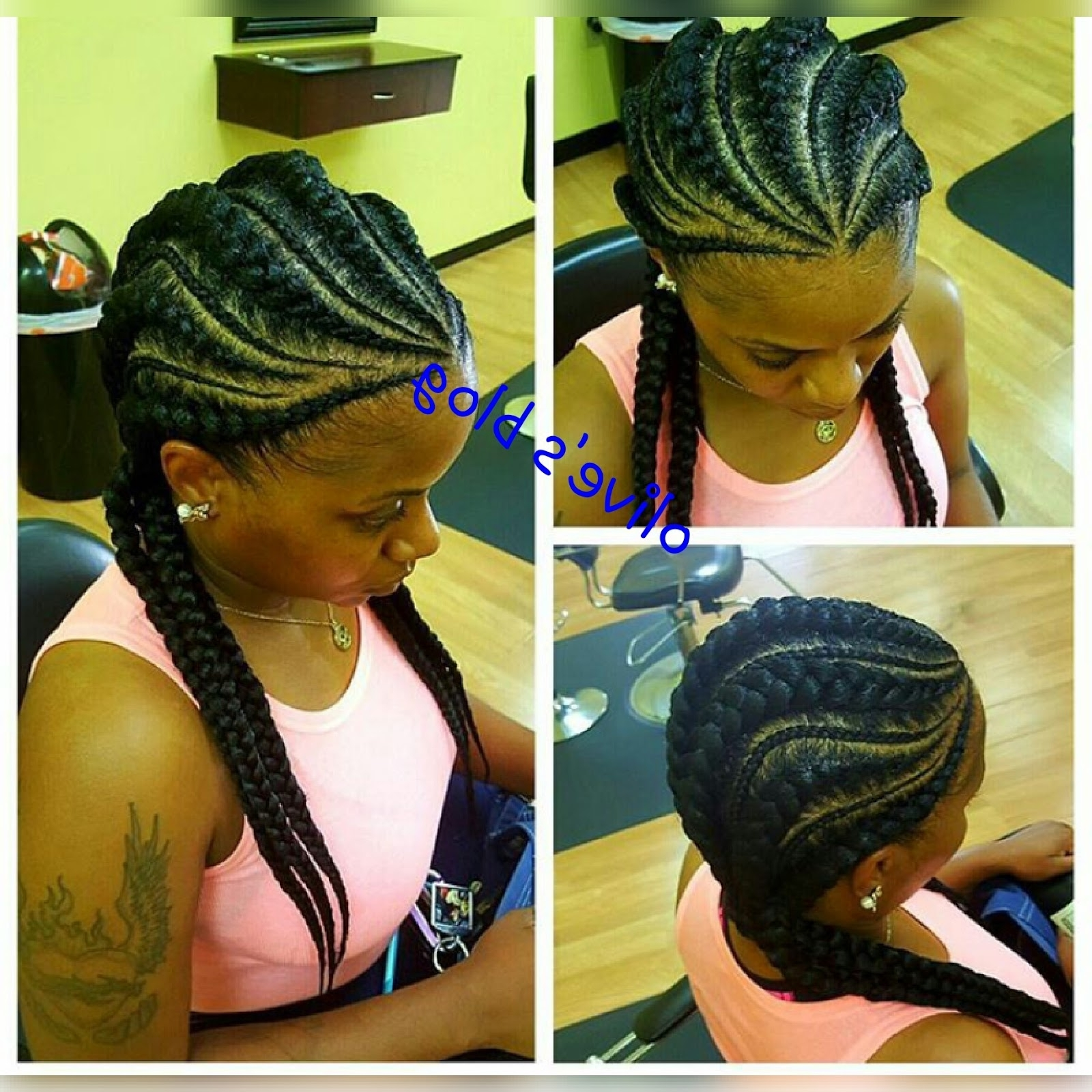 30 Creative And Gorgeous Cornrows Braids For Women (Photos) – Blogit With Regard To Current Creative Cornrows Hairstyles (View 2 of 15)