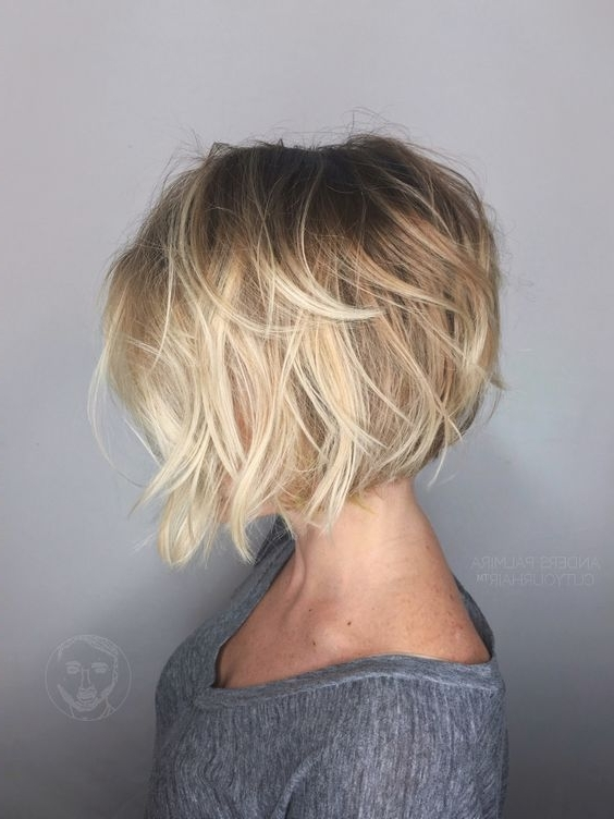 30 Cute Messy Bob Hairstyle Ideas 2018 (short Bob, Mod & Lob With Popular Pastel And Ash Pixie Haircuts With Fused Layers (View 12 of 15)