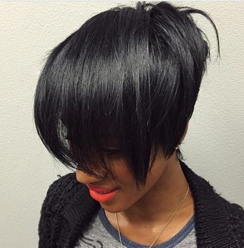 30 Stacked Bob Haircuts For Sophisticated Short Haired Women Within Recent Stacked Pixie Bob Haircuts With Long Bangs (View 15 of 15)