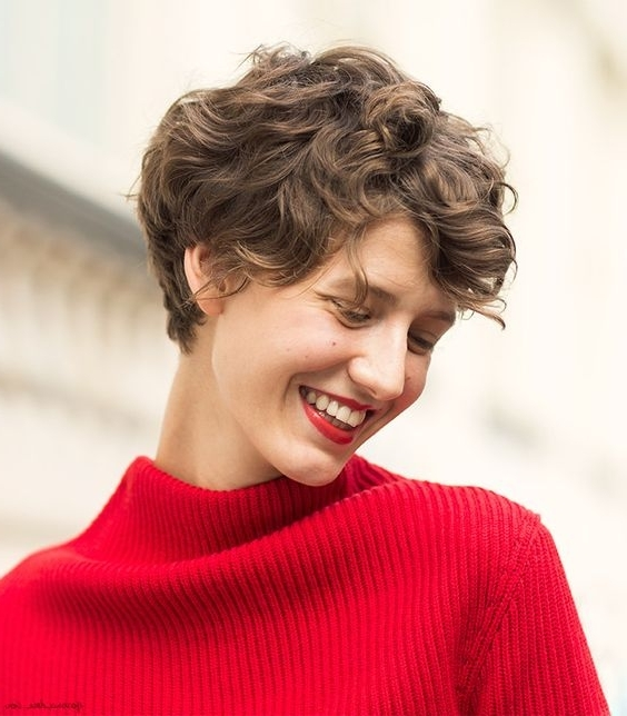 30 Stunning Curly & Straight Pixie Haircuts For (View 8 of 15)