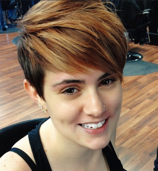 32 Cool Short Hairstyles For Summer – Pretty Designs Regarding Latest Long Tapered Pixie Haircuts With Side Bangs (View 5 of 15)