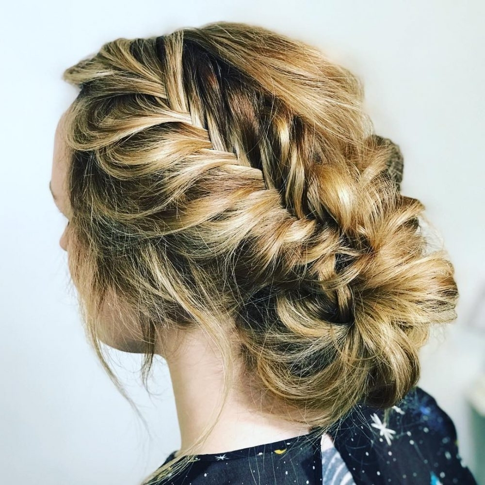 33 Breathtaking Loose Updos That Are Trendy For 2018 Within Most Recent Loosely Braided Hairstyles (View 3 of 15)