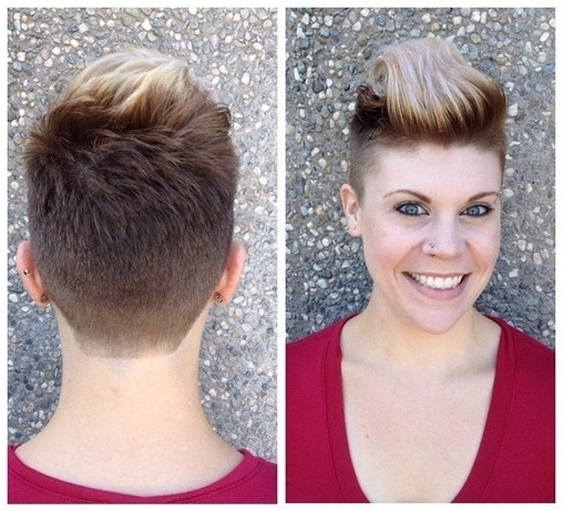 33 Cool Short Pixie Haircuts For 2018 – Pretty Designs Regarding Recent Two Tone Pixie Haircuts (View 4 of 15)