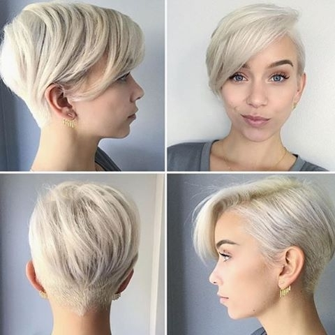 35 Fabulous Short Haircuts For Thick Hair Inside Well Known Tapered Pixie Haircuts With Long Bangs (View 6 of 15)