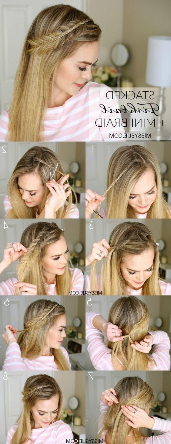 351 Best Turtorials Braids Diy Hair Styles Images On Pinterest Pertaining To 2017 Cornrows Enclosed By Headband Braid Hairstyles (View 2 of 15)