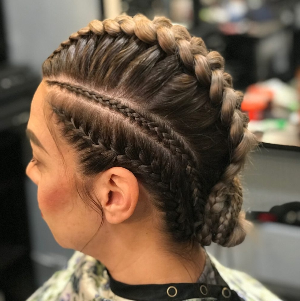 36 Cute French Braid Hairstyles For 2018 Regarding Recent Diagonal Two French Braid Hairstyles (View 1 of 15)
