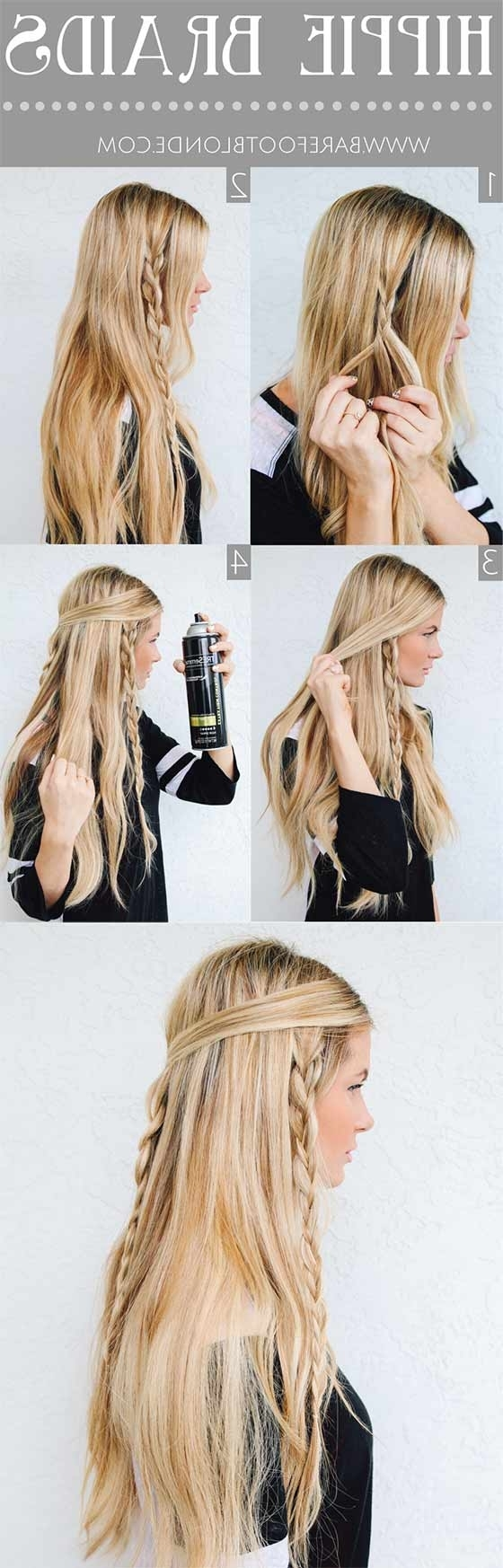 40 Braided Hairstyles For Long Hair Pertaining To Most Up To Date Triple Braid Hairstyles (View 11 of 15)