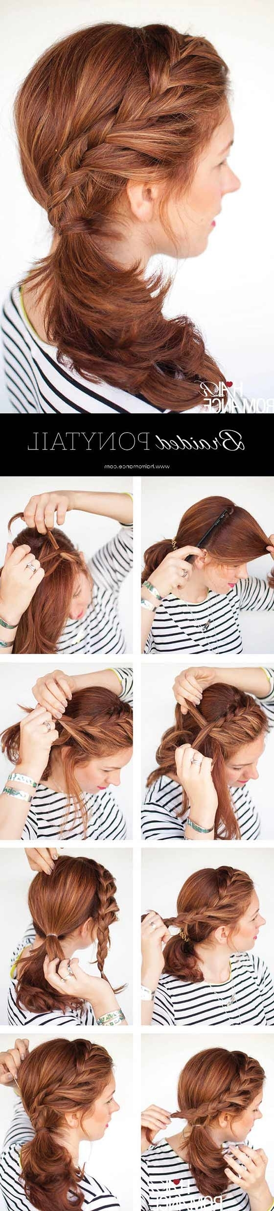 40 Braided Hairstyles For Long Hair Throughout Most Current Pair Of Braids With Wrapped Ponytail (View 14 of 15)