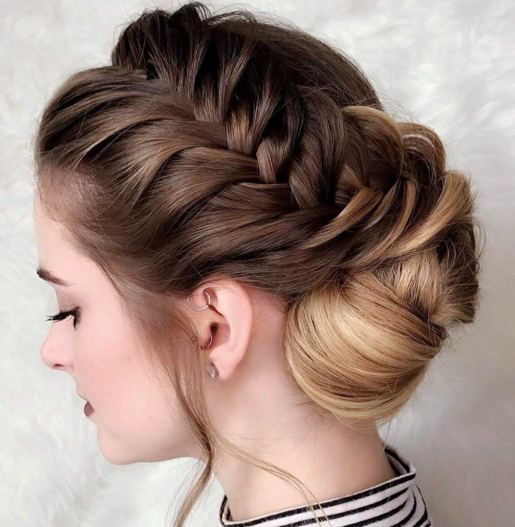 40 Diverse Homecoming Hairstyles For Short, Medium And Long Hair Inside Most Popular Low Side French Braid Hairstyles (View 14 of 15)
