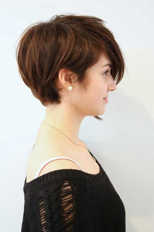 40 Hottest Short Hairstyles, Short Haircuts 2018 – Bobs, Pixie, Cool Inside Favorite Asymmetrical Long Pixie For Round Faces (View 5 of 15)