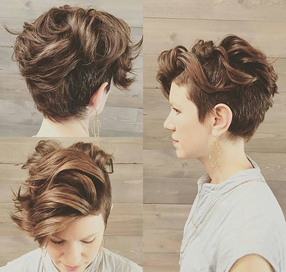 40 Short Super Spunky Shag Hairstyles Intended For Favorite Tousled Pixie With Undercut (View 3 of 15)