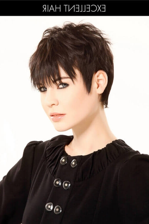 43 Perfect Short Hairstyles For Fine Hair In 2018 In Most Up To Date Sassy Undercut Pixie With Bangs (View 5 of 15)