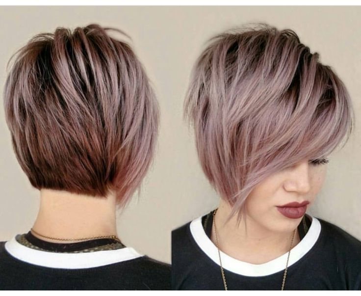 47 Amazing Pixie Bob You Can Try Out This Summer! Pertaining To Fashionable Angled Pixie Bob Haircuts With Layers (View 5 of 15)