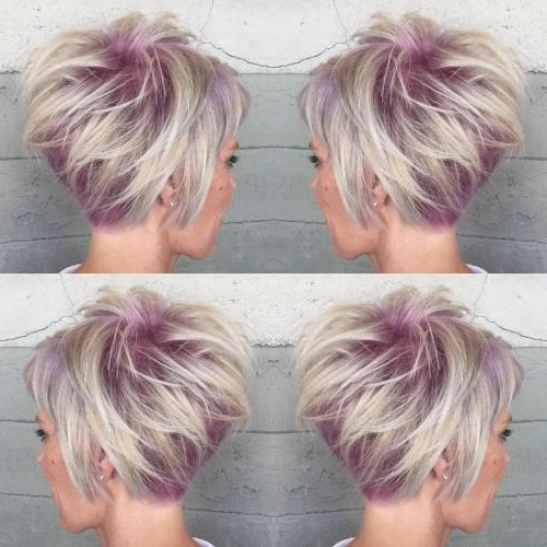 Featured Photo of Pastel And Ash Pixie Haircuts With Fused Layers
