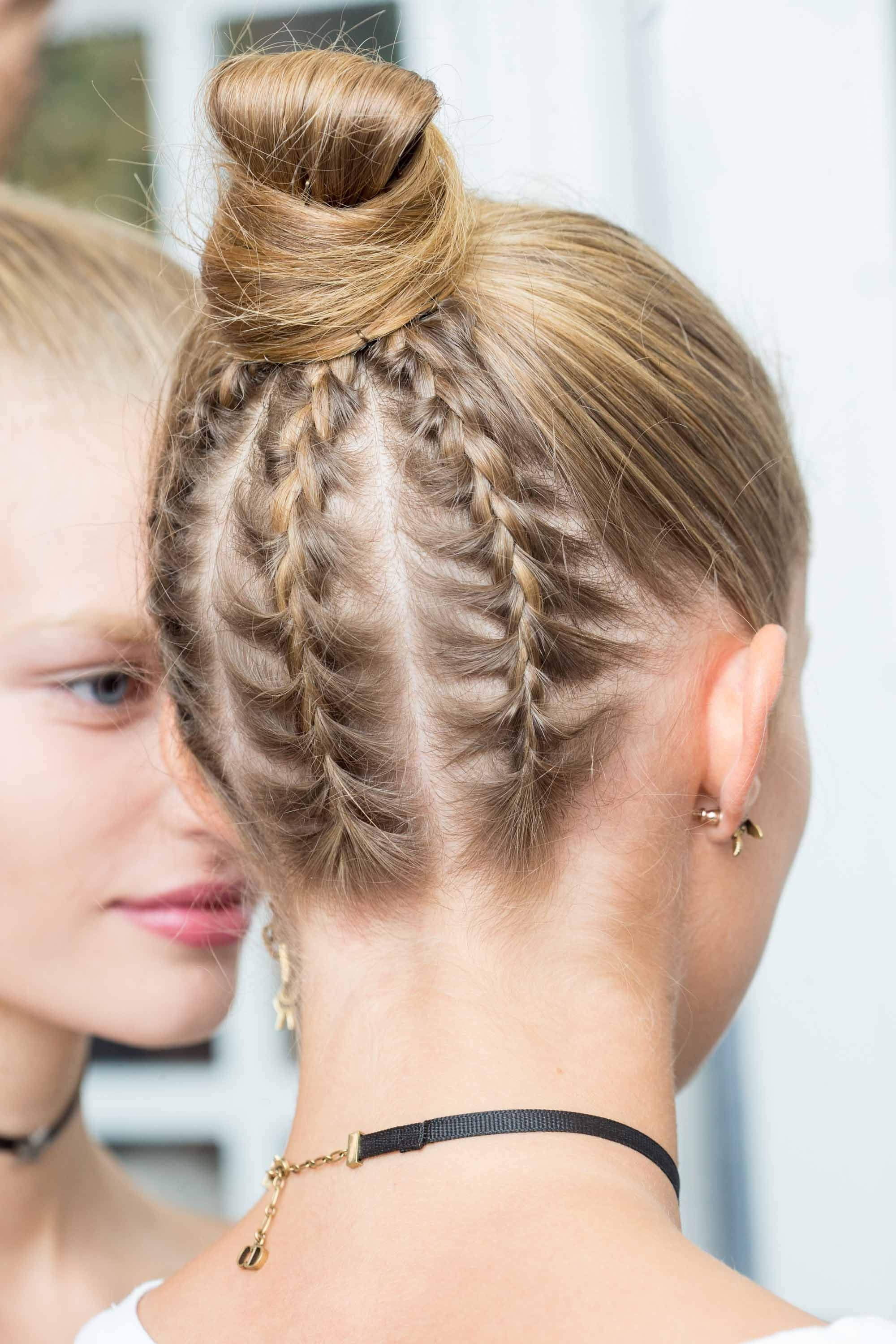5 Easy Bun Hairstyles To Try This Party Season For Braid Lovers Within Famous Cornrows Bun Hairstyles (View 6 of 15)