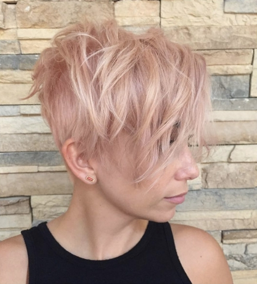 5 Rose Gold Layers – Style Skinner Inside Well Liked Rose Gold Pixie Haircuts (View 4 of 15)