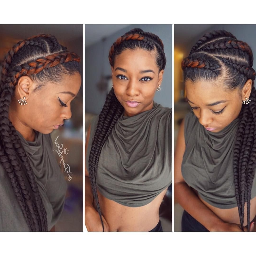 50 Absolutely Beautiful Feed In Braid Hairstyles Within Most Up To Date Cornrows Hairstyles With Color (View 13 of 15)