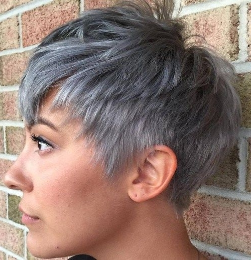 50 Edgy, Shaggy, Messy, Spiky, Choppy Pixie Cuts (View 4 of 15)