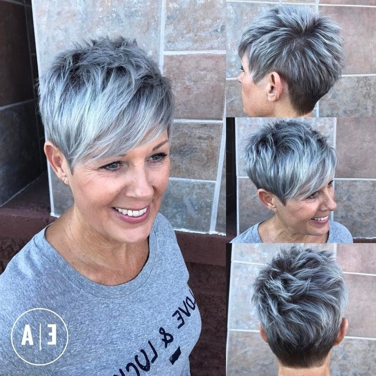 50 Hottest Balayage Hairstyles For Short Hair – Balayage Hair Color Intended For Current Silver And Brown Pixie Haircuts (View 3 of 15)