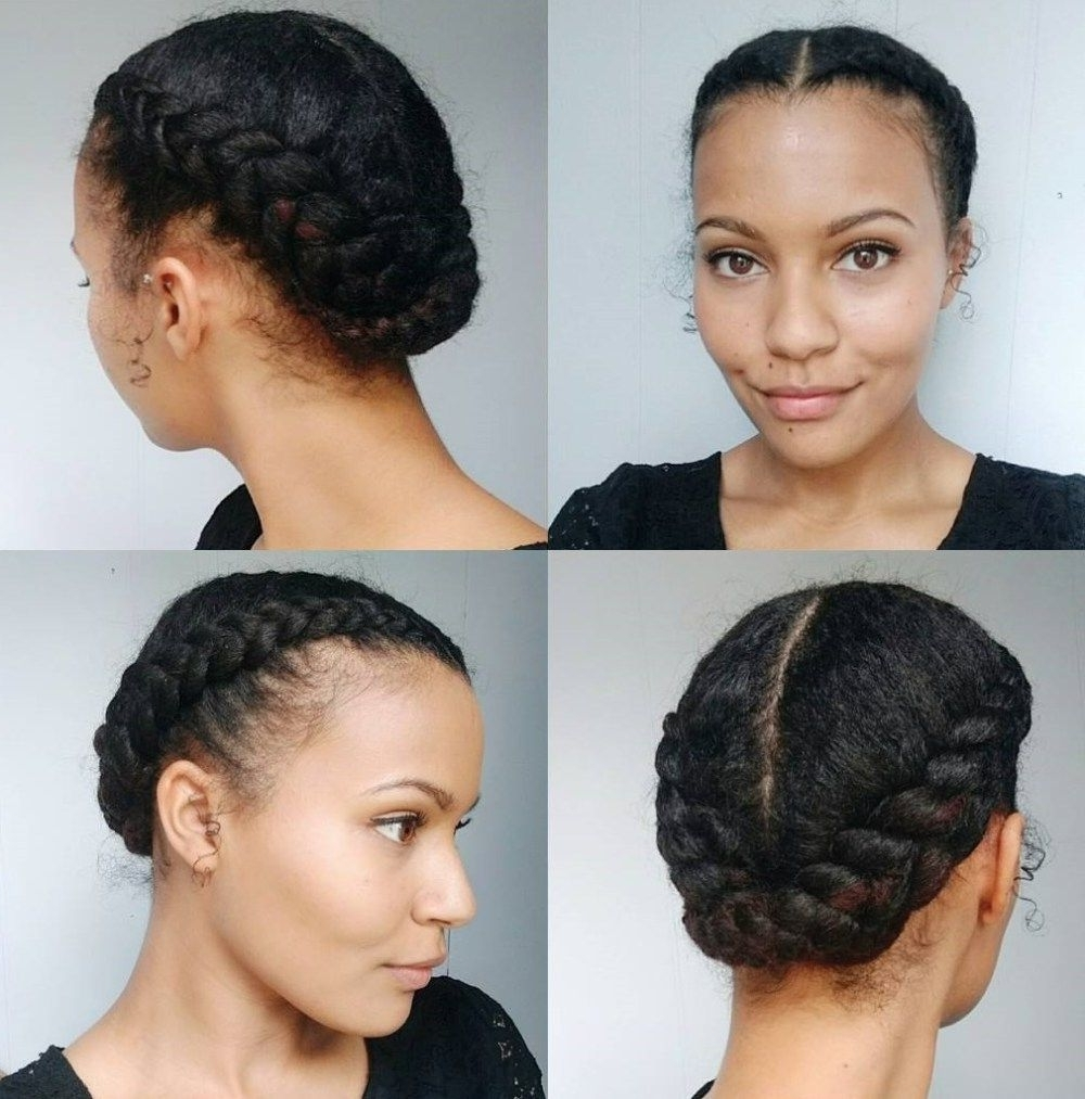 50 Updo Hairstyles For Black Women Ranging From Elegant To Eccentric Inside Well Liked Mixed Braid Updo For Black Hair (View 9 of 15)
