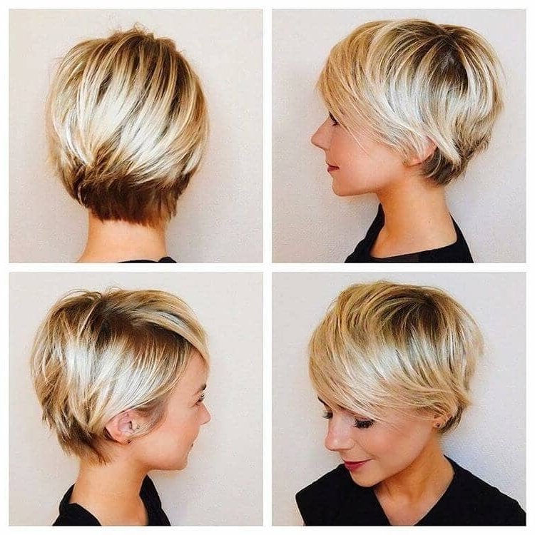 50 Ways To Wear Short Hair With Bangs For A Fresh New Look For Most Current Finely Chopped Buttery Blonde Pixie Haircuts (View 8 of 15)