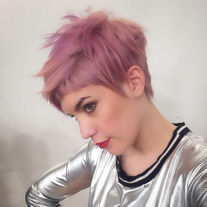 60 Cool Short Hairstyles & New Short Hair Trends! Women Haircuts 2017 Intended For 2017 Sassy Undercut Pixie With Bangs (View 6 of 15)