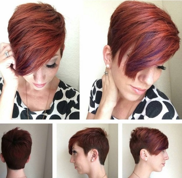 60 Cool Short Hairstyles & New Short Hair Trends! Women Haircuts 2017 Pertaining To Current Short Choppy Side Parted Pixie Haircuts (View 2 of 15)