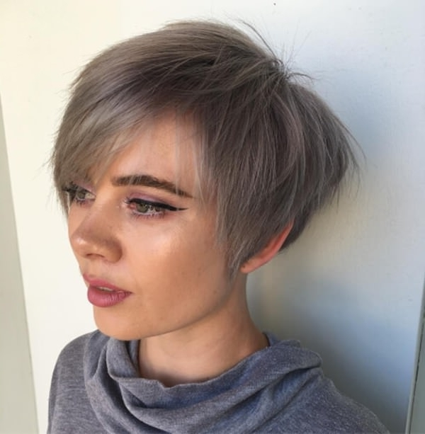 66 Pixie Cuts For Thick/thin Hair – Style Easily With Popular Silver And Brown Pixie Haircuts (View 5 of 15)