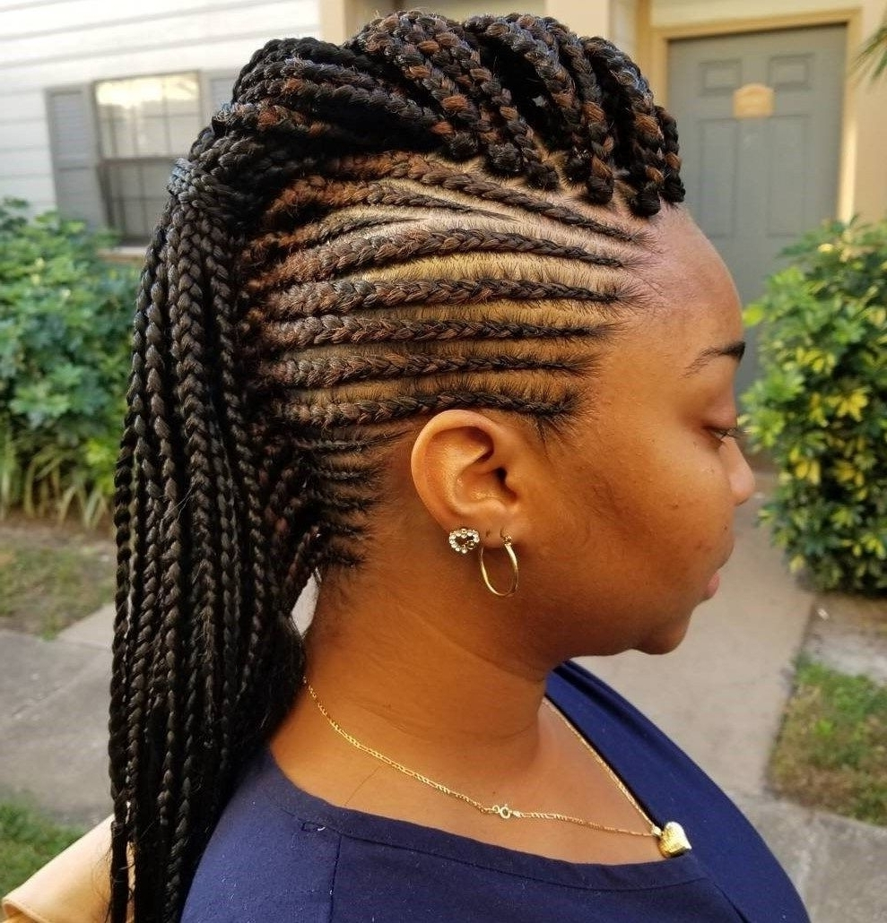 Photo Gallery of Chunky Mohawk Braid With Cornrows (Viewing 4 of 15 ...