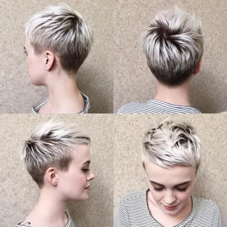 Featured Photo of Blonde Pixie Haircuts With Short Angled Layers