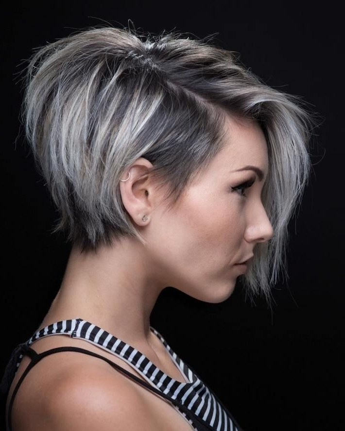 Featured Photo of Stacked Pixie Bob Haircuts With Long Bangs