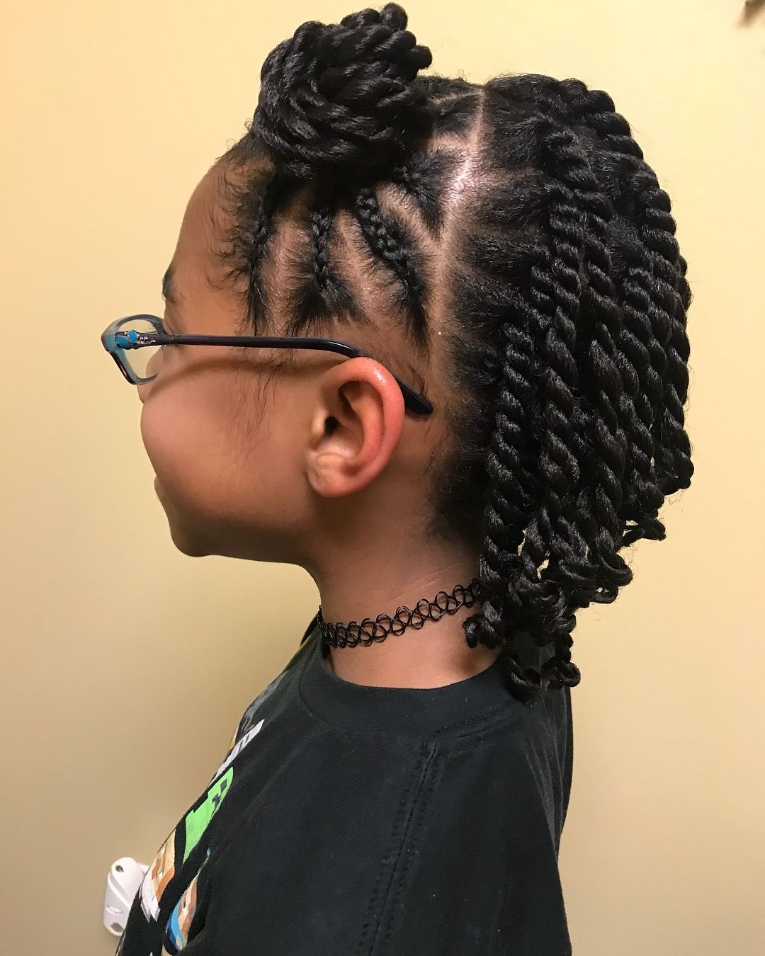 9 Cute Protective Styles From @returning2Natural Perfect For Your Within Favorite Cornrows With Artistic Beaded Twisted Bun (Gallery 9 of 15)
