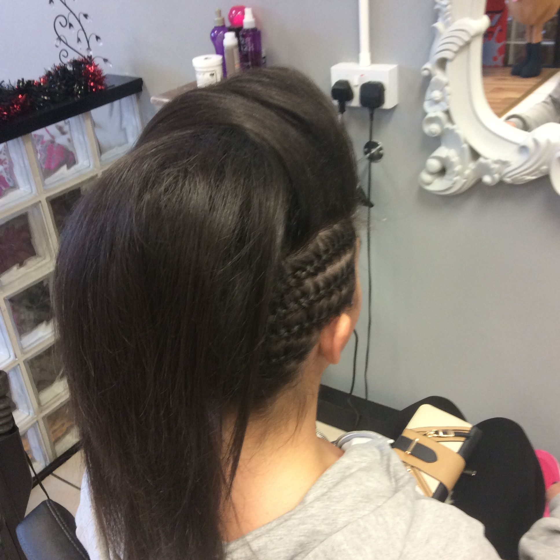 A Mohawk Inspired Updo With Side Plaits And Side Sweeping Bump In 2018 Mohawk With Double Bump Hairstyles (Gallery 1 of 15)