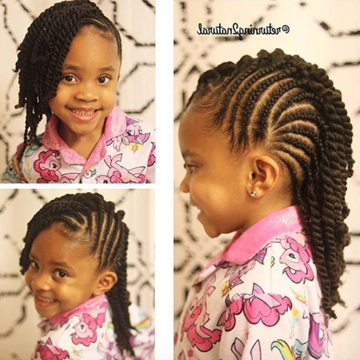 Adorable! @returning2Natural – Http://community.blackhairinformation With Regard To Most Up To Date Cornrows Hairstyles With Afro (Gallery 12 of 15)