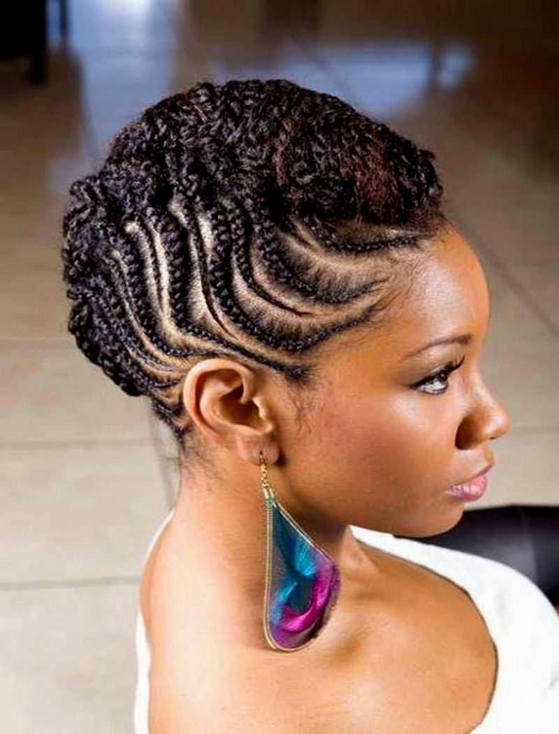 African Twist Out Short Hair African Hair Braiding Cute Twists Inside Current Cornrow Updo Braid Hairstyles (View 14 of 15)