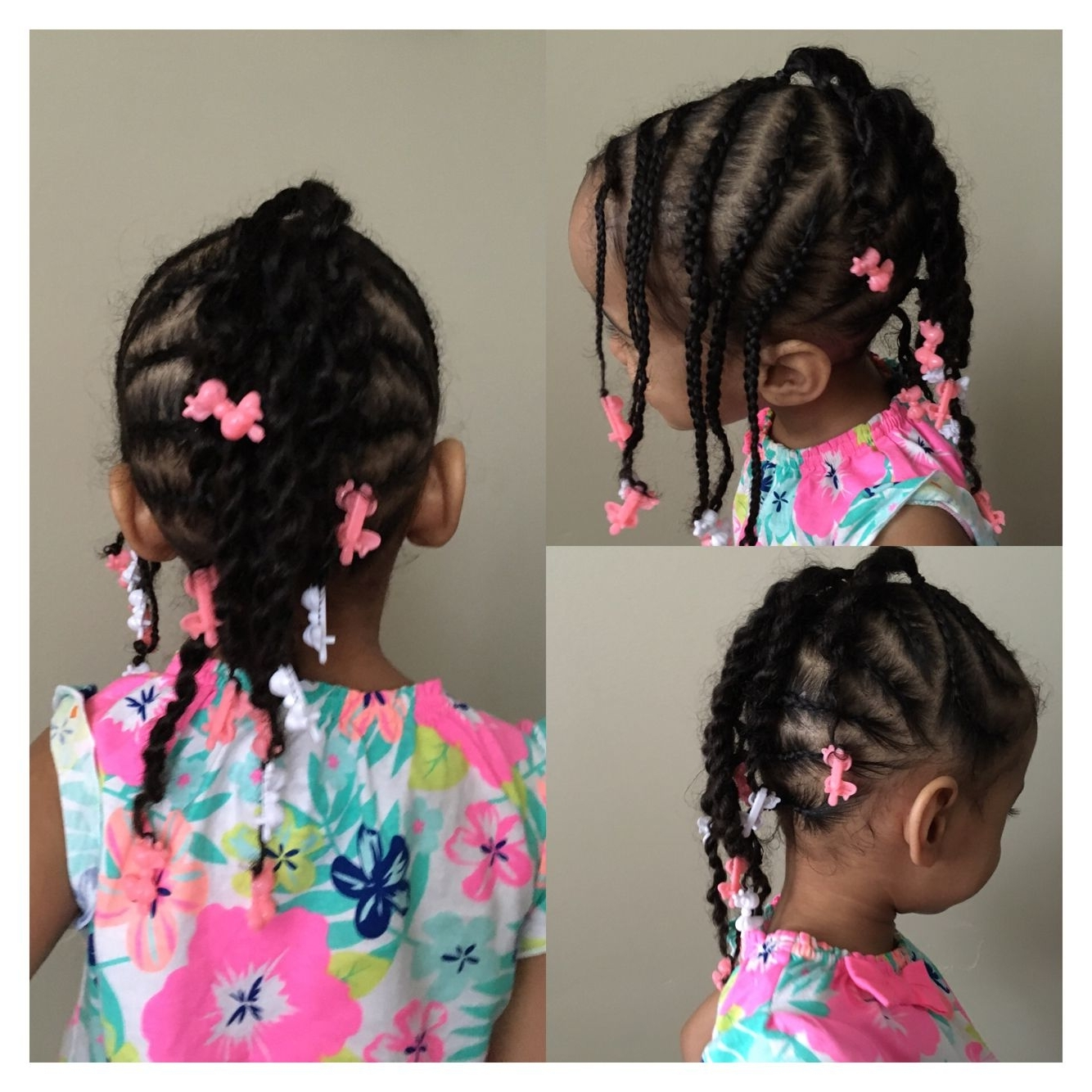 All Braids: Swoop, Side Bang, Back Mohawk, With Bow Clips At End Regarding Trendy Cornrows Hairstyles With Swoop (View 3 of 15)