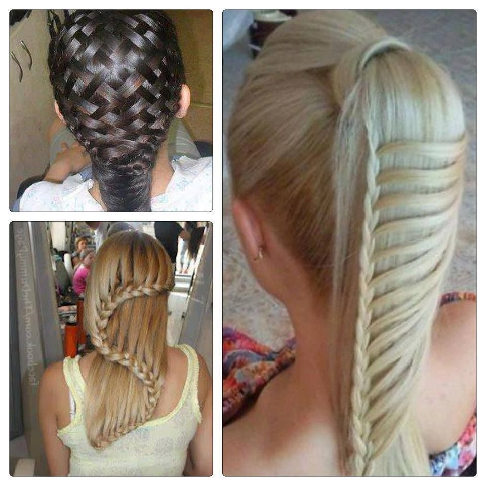 Amazing Hairstyles For Girls (Basket Weave Hairstyle, Ladder Inside Well Liked Lattice Weave With High Braided Ponytail (View 2 of 15)
