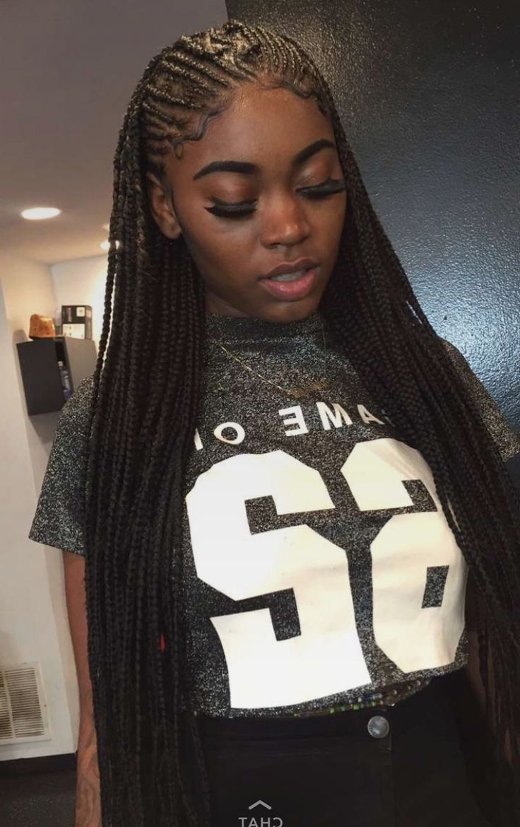 Astonishing Black Hair Simple Long Braids New Of Tumblr Trend And For Best And Newest Long Braids For Black Hair (View 7 of 15)