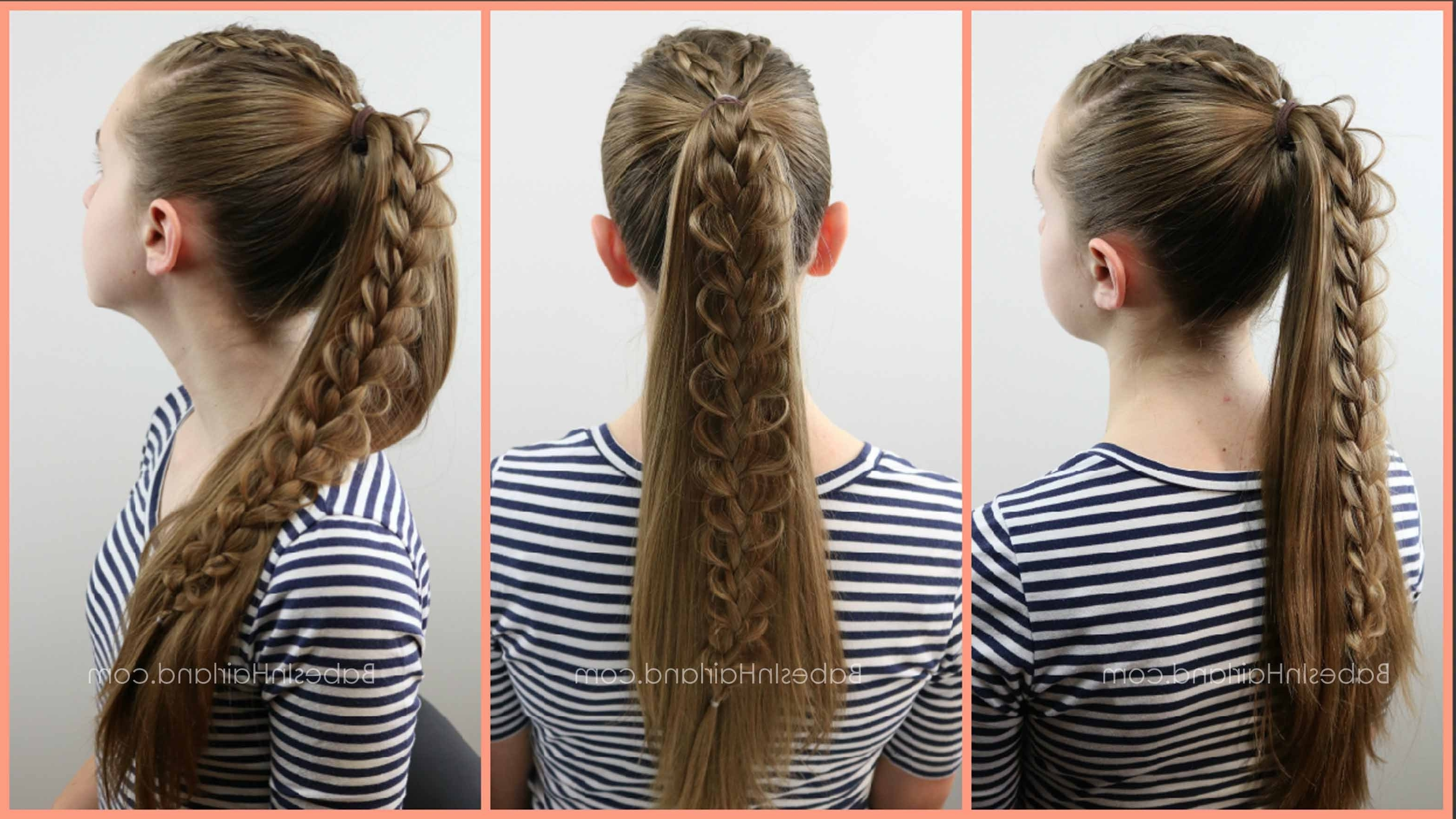 Babesinhairland For Most Up To Date French Pull Back Braids Into Ponytail (View 12 of 15)
