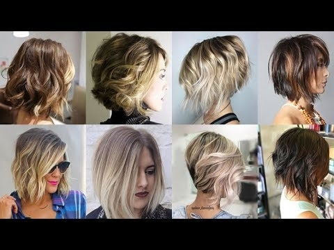 Balayage Ombre Short Hair 2018 Bob Haircuts 2019 – Youtube Within Most Popular Feathered Pixie Haircuts With Balayage Highlights (View 6 of 15)