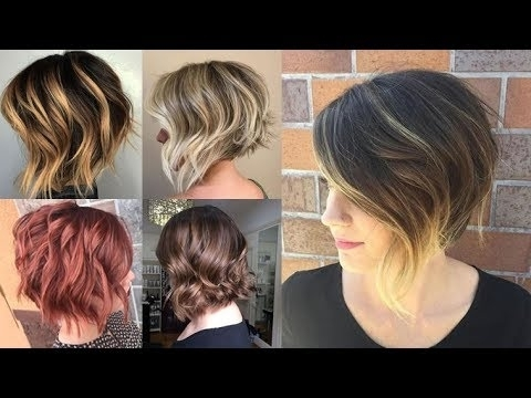 Balayage Short Bob Highlights & Hair Colors On Short Hair – Youtube In Fashionable Feathered Pixie Haircuts With Balayage Highlights (View 8 of 15)