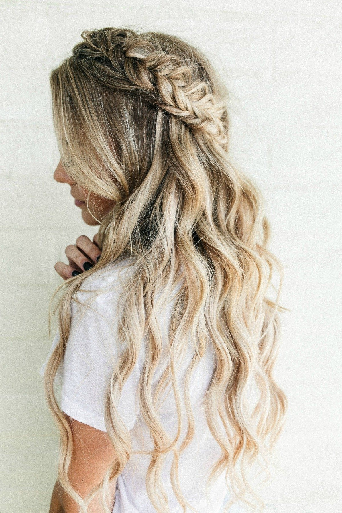 Barefoot Blonde, Blonde Hair Pertaining To Most Current Braided Crown With Loose Curls (View 2 of 15)