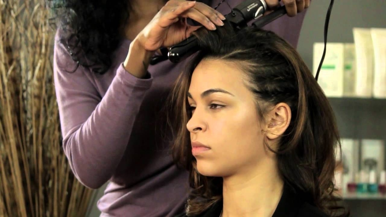 Basic, Half Head Cornrow Styles : Tips For Styling Hair – Youtube With Best And Newest Half Cornrow Hairstyles (View 2 of 15)