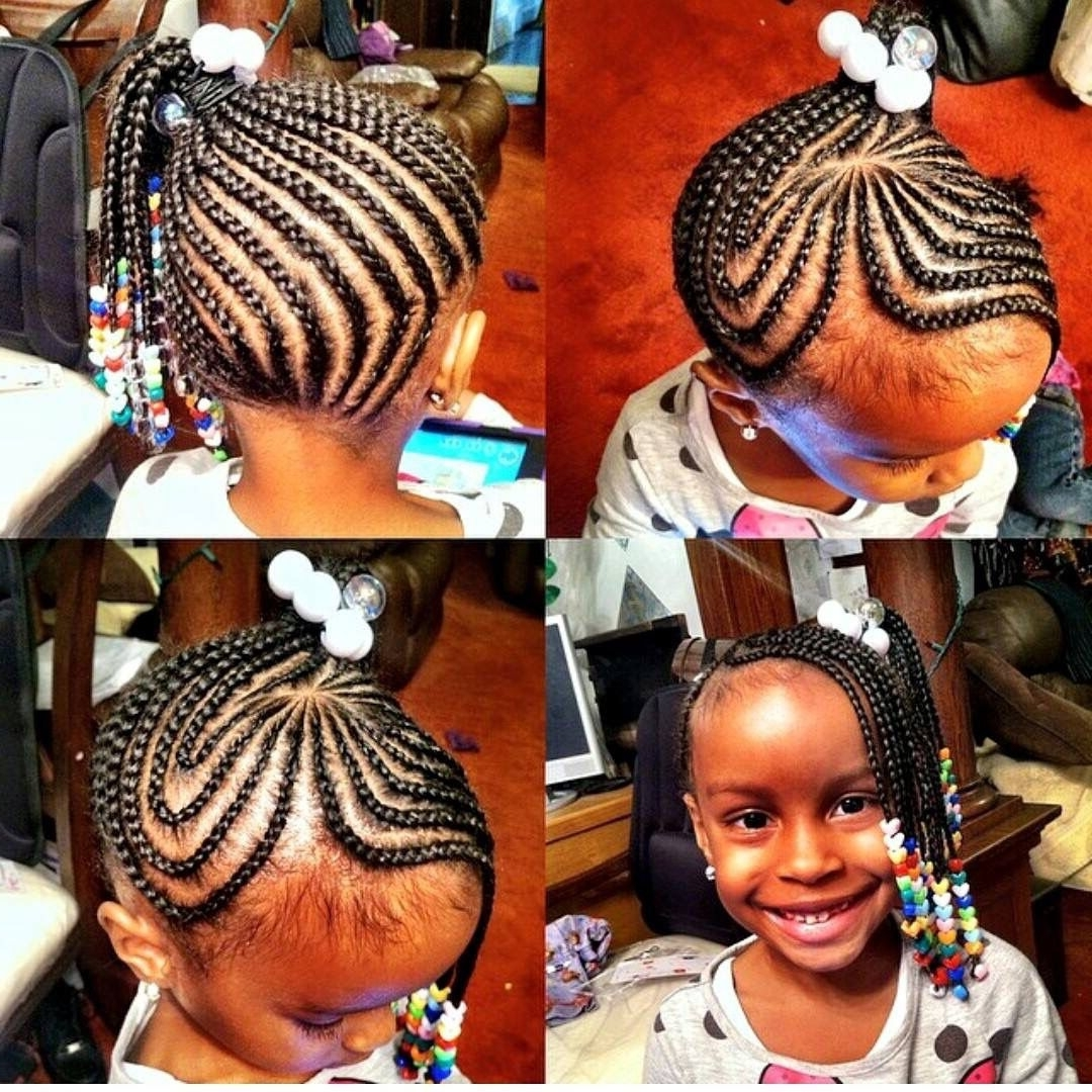 Beads, Kid Within Fashionable Classic Fulani Braids With Massive Ivory Beads (View 15 of 15)
