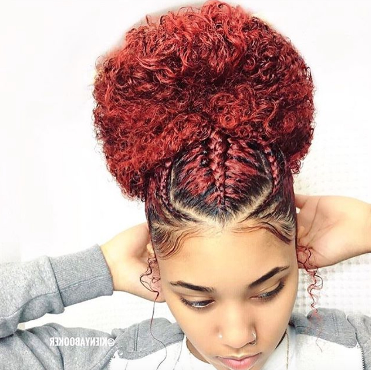 Beautiful Bun @kienyabooker – Https://blackhairinformation Regarding Fashionable Cornrows Hairstyles In A Bun (View 2 of 15)