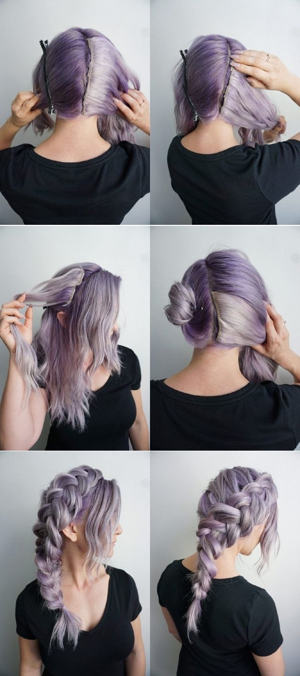 Beautiful Hair Within Trendy Top Knot Ponytail Braids With Pink Extensions (View 1 of 15)