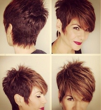 Benefit Short Hair Styles Pertaining To Most Up To Date Funky Blue Pixie With Layered Bangs (View 6 of 15)