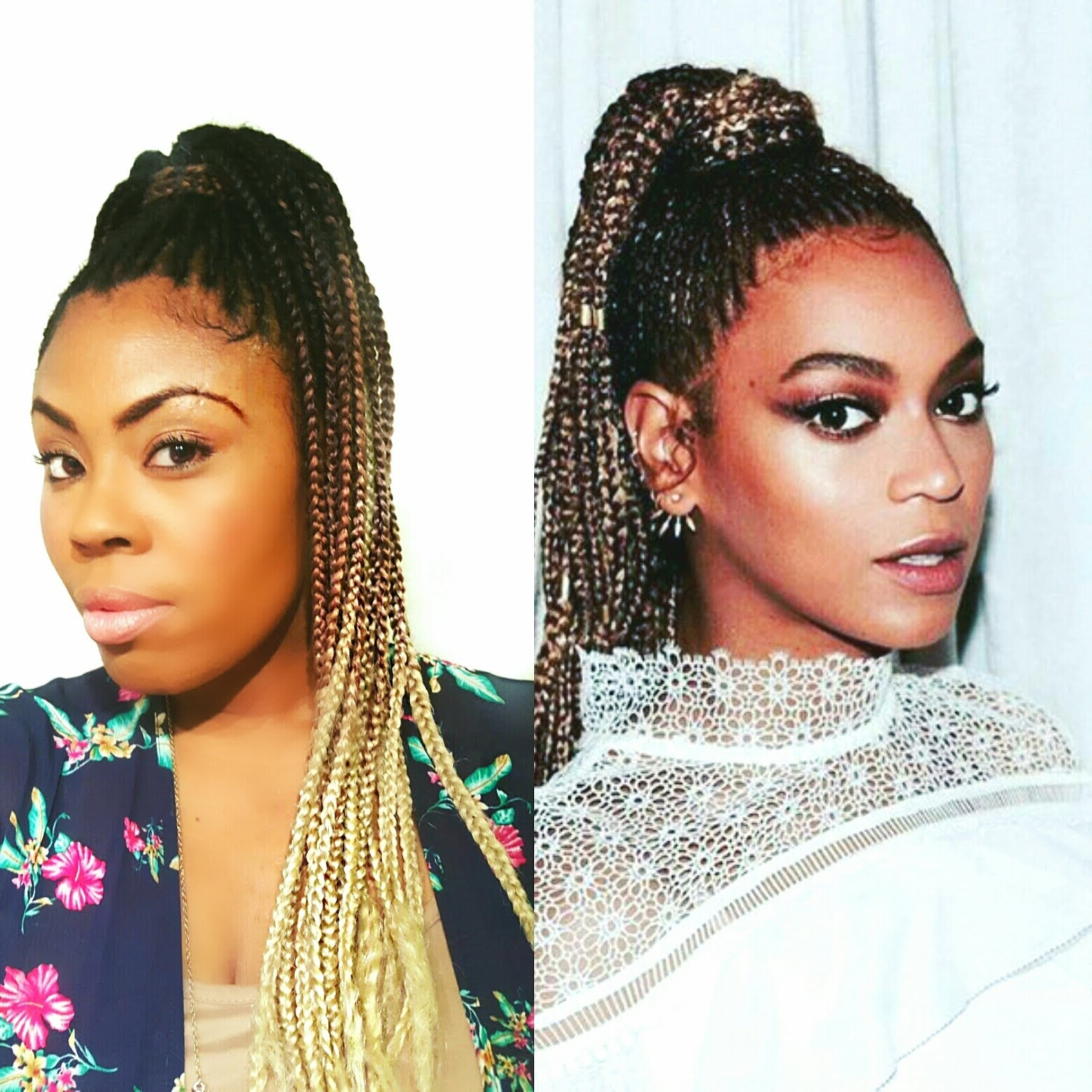 Best And Newest Beyonce Cornrows Hairstyles Regarding Beyonce Inspired Braided High Ponytail On Natural Hair – Youtube (View 4 of 15)