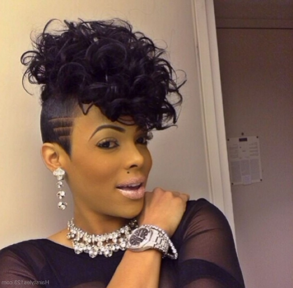 Best And Newest Black Braided Mohawk For Mohawk Hairstyles For Black Women Pictures Of Hair Stock Photos Hd (View 4 of 15)
