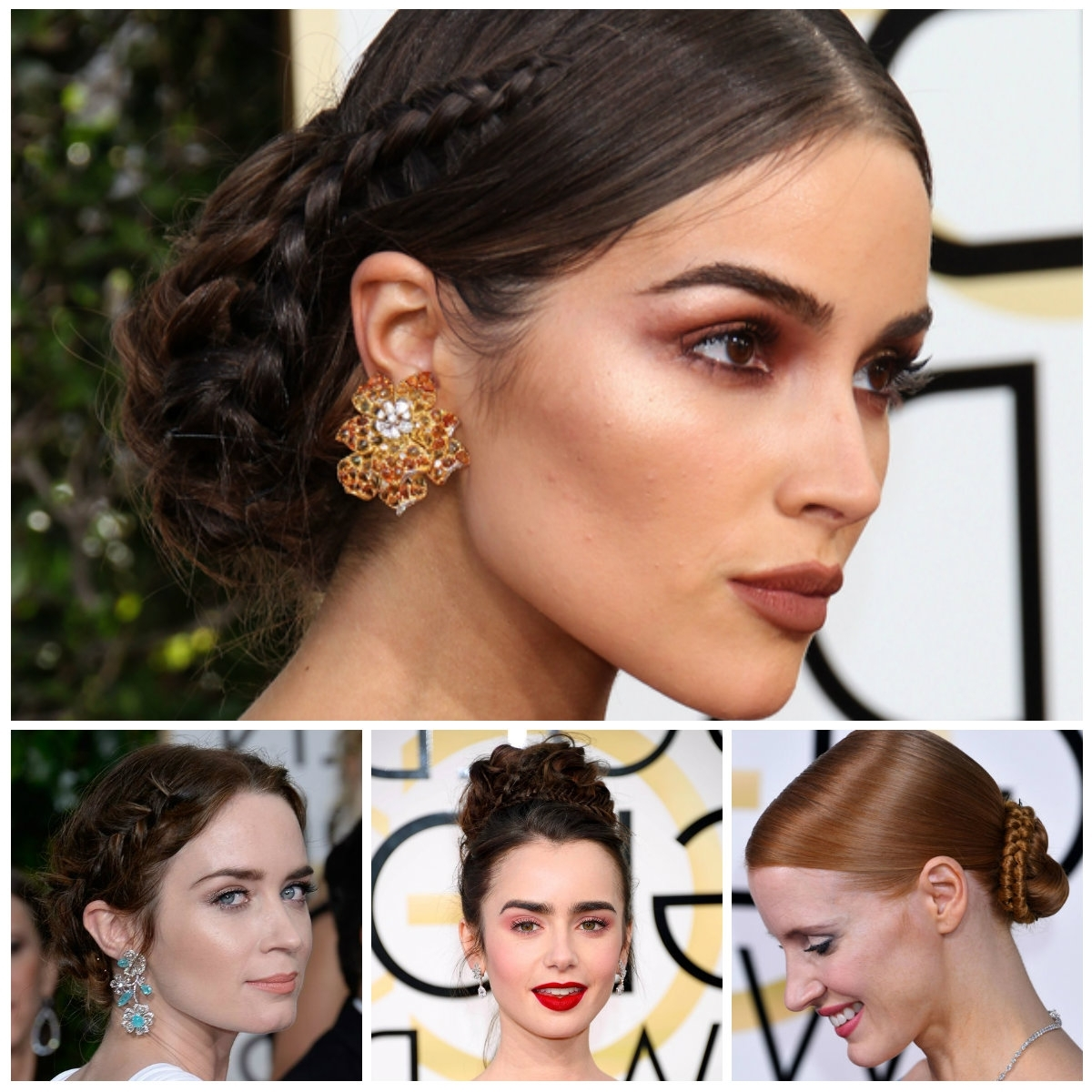 Best And Newest Celebrity Braided Hairstyles Within 2017 Celebrity Braided Updo Hairstyles For Prom – New Hairstyles (View 5 of 15)